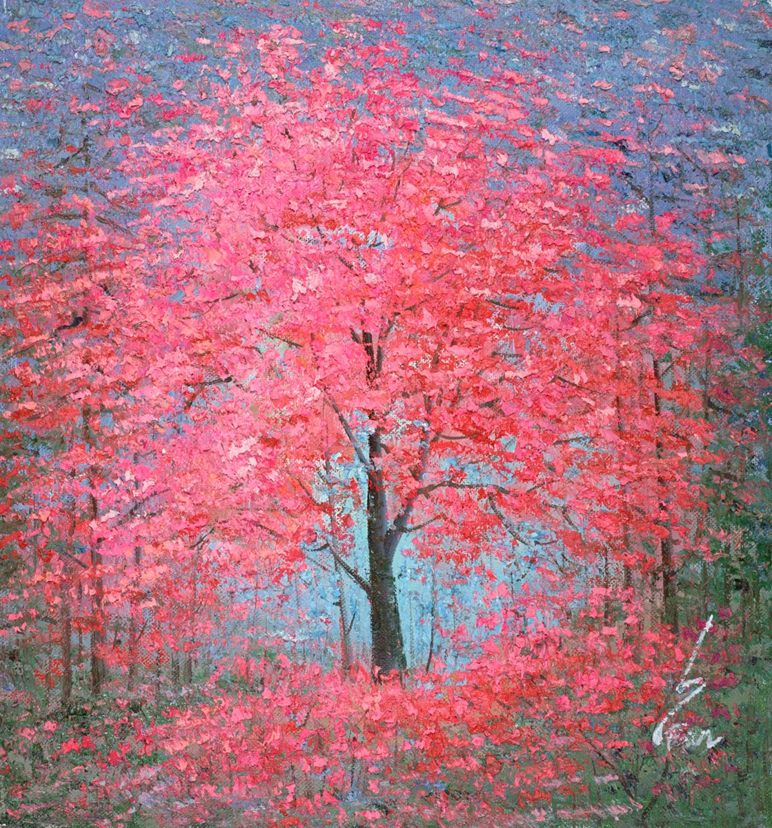The Silent Forest II by inam -  sized 29x31 inches. Available from Whitewall Galleries